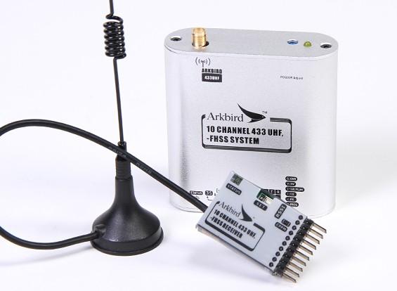 Arkbird 433MHz 10 canais FHSS UHF Módulo / Repeater Station com receptor