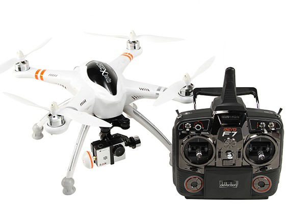Walkera QR X350 PRO FPV GPS RC Quadrotor G-2D cardan, iLook Câmara, DEVO F7 (Modo 2) (pronto para voar)