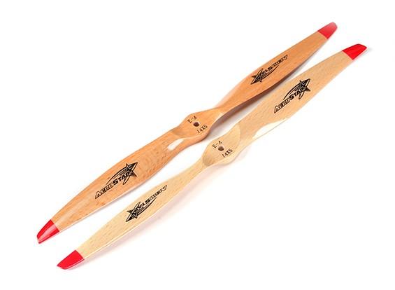 Aerostar elétrica Série de madeira da hélice 14x5 (2pcs)