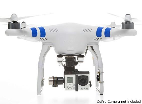 DJI Fantasma 2 com Zenmuse H3-3D cardan, Rádio 2.4GHz e inteligente da bateria (pronto para voar)