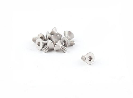 Titanium M2 x 4 Escareado Hex Parafuso (10pcs / saco)