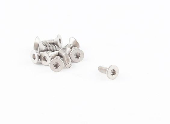 Titanium M2 x 6 Escareado Hex Parafuso (10pcs / saco)