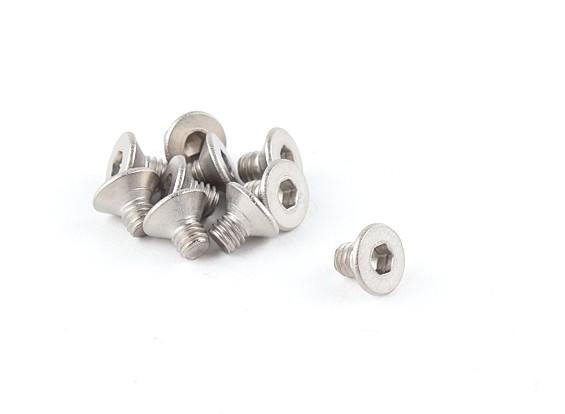Titanium M4 x 6 Escareado Hex Parafuso (10pcs / saco)
