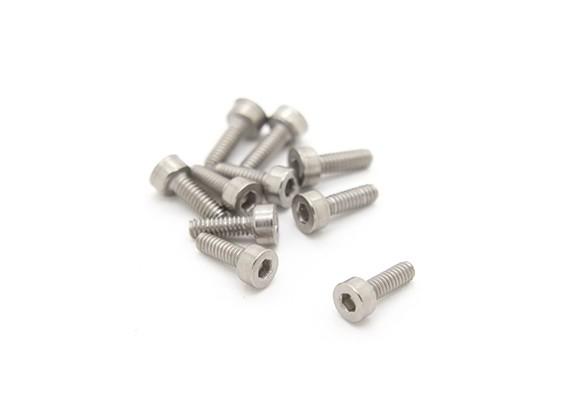 Titanium M2 x 6 Sockethead Hex Parafuso (10pcs / saco)