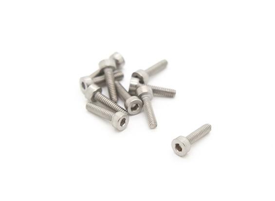 Titanium M2 x 8 Sockethead Hex Parafuso (10pcs / saco)