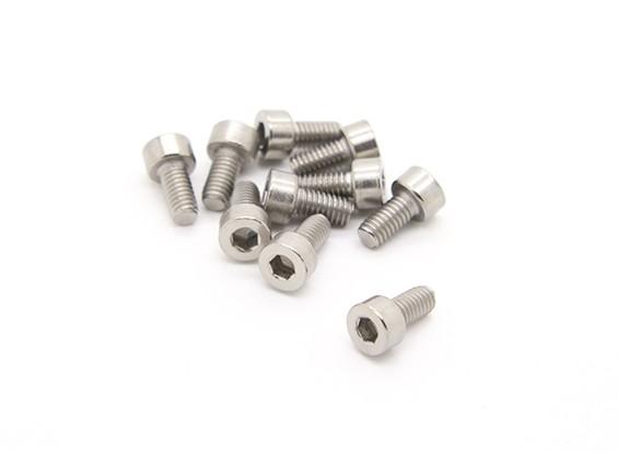Titanium M4 x 8 Sockethead Hex Parafuso (10pcs / saco)
