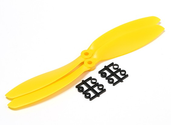 Hobbyking ™ Hélice 9x4.7 Amarelo (CW) (2pcs)