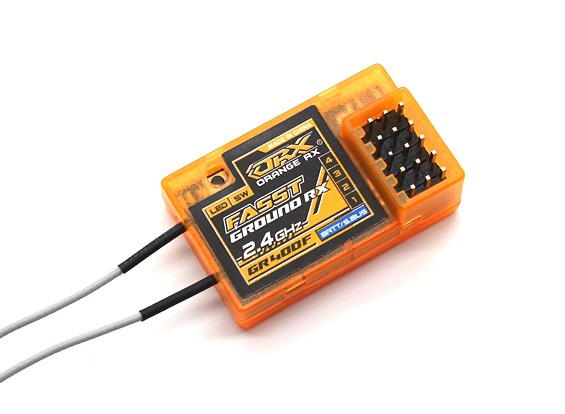 Receptor terrestre Compatível 4Ch 2.4GHz OrangeRx GR400F Futaba FASST