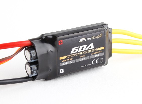 RotorStar 60A (2 6S ~) SBEC Brushless Speed Controller