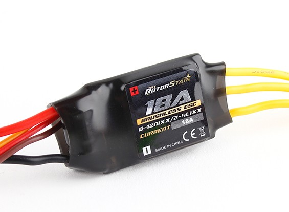 RotorStar 18A (2 ~ 4S) SBEC Brushless Speed Controller