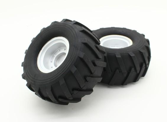 Tire Set (L & R) (1 Set) - Basher 1/16 Mini Nitro Circus MT