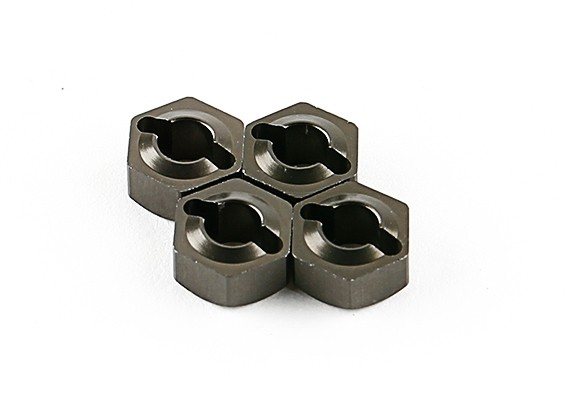 Titanium rodas Hubs (4pcs) - Basher 1/16 Mini Nitro Circus MT