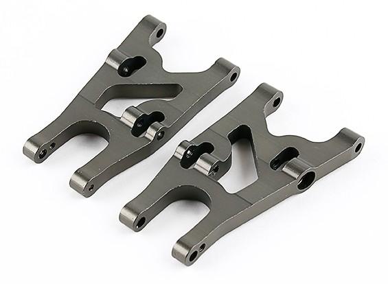Titanium Frente Lower Susp. Armas (L & R) - Basher 1/16 Mini Nitro Circus MT