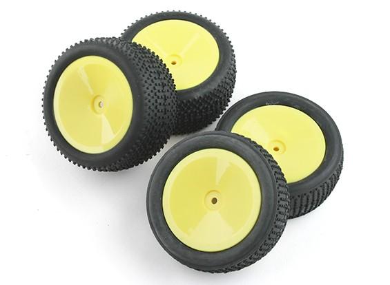Dianteiros e traseiros completos Tire Set (4pcs) - BSR Corrida BZ-222 1/10 2WD Corrida Buggy