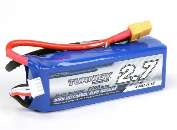 Turnigy 2700mAh 3S 20C Lipo Pack (Adequado para Quanum Nova, Fantasma, QR X350)