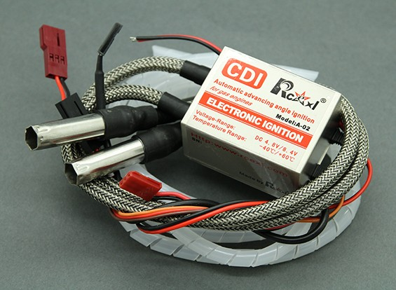 Rcexl Duplo Cilindro CDI Ignition para NGK ME-8 1 / 4-32 Caps Hetero