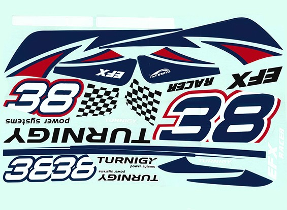 Durafly ™ EFX Racer - Decal Set (Red)
