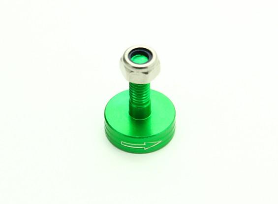 CNC alumínio M6 Quick Release auto-aperto Prop Adapter - Green (Prop Side) (sentido horário)