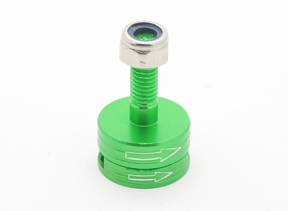 CNC alumínio M6 Quick Release auto-aperto Prop Adapter Set - Verde (sentido horário)