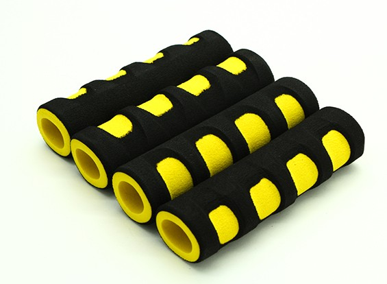 EVA Foam Gimbal punho amarelo / preto (107x28x18mm) (4pcs)