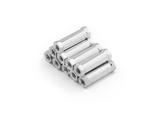 Leve redonda de alumínio Seção Spacer M3 x 17 milímetros (10pcs / set)