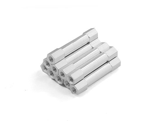 Leve redonda de alumínio Seção Spacer M3 x 29 milímetros (10pcs / set)