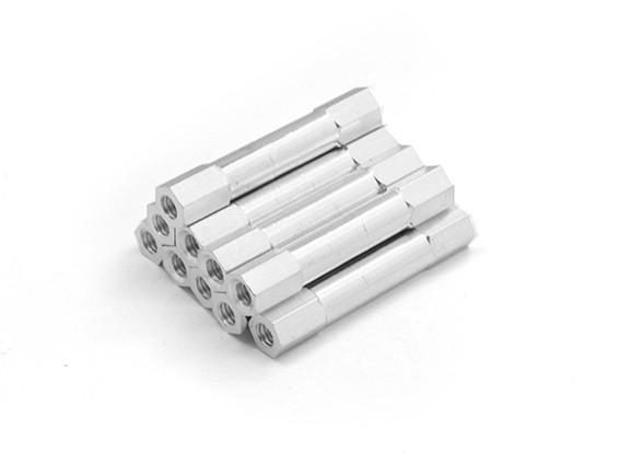 Leve redonda de alumínio Seção Spacer M3 x 30 milímetros (10pcs / set)