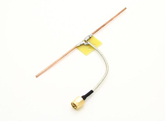 1.2GHz dipolo Coaxial alimentação Quarter Direct Connect Onda Antena (RP-SMA)