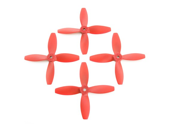 Lumenier FPV Corrida Hélices 4040 4-Blade Red (CW / CCW) (2 pares)