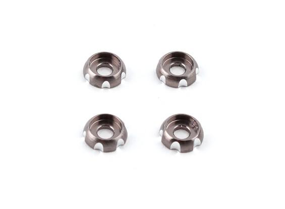 3 milímetros de alumínio CNC Roundhead Washer - Silver (4pcs)