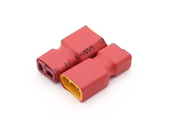 XT60 para cabo de conexão T-adaptador de bateria (2pc)