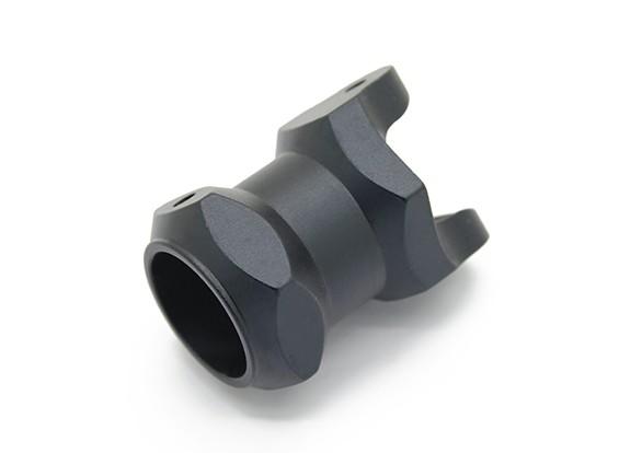 CNC de alumínio 16 milímetros Folding Multi-Rotor lança titular (Black)