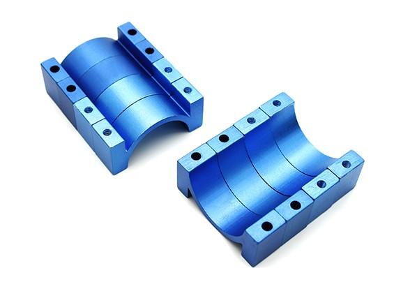 Azul anodizado CNC alumínio Tubo braçadeira 22 milímetros de diâmetro (conjunto de 4)