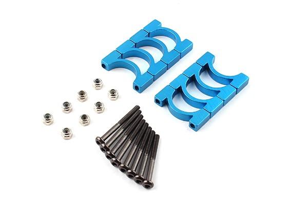 Azul anodizado CNC Super Light Alloy diâmetro do tubo braçadeira de 16 milímetros (4set)