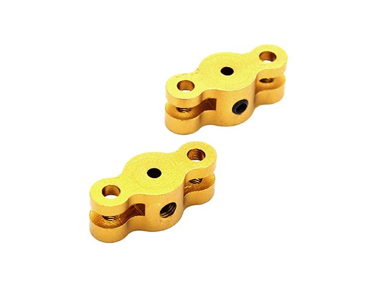 21 milímetros hélice dobrável Adaptador para dois milímetros Shaft (Gold) 1 par