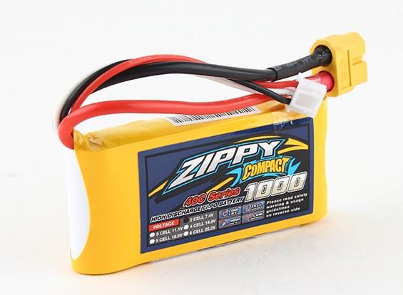 ZIPPY Compact 1000mAh 2s 40c Lipo pacote