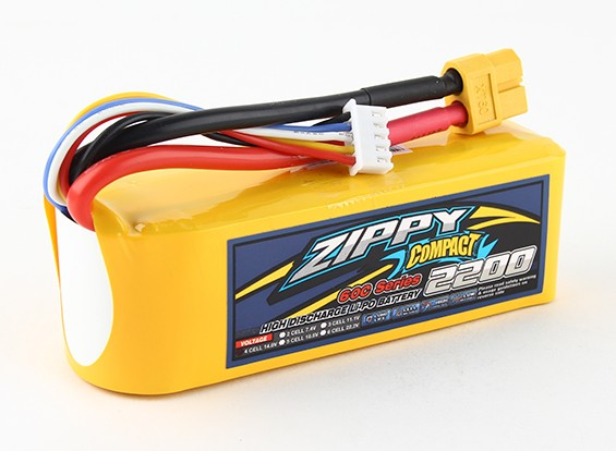 ZIPPY Compact 2200mAh 4s 60c Lipo pacote
