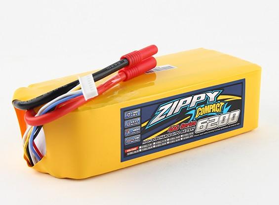 ZIPPY Compact 6200mAh 6s 40c Lipo pacote