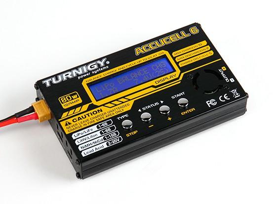 Turnigy Accucel-6 80W 10A Balancer / Carregador LiHV Capable