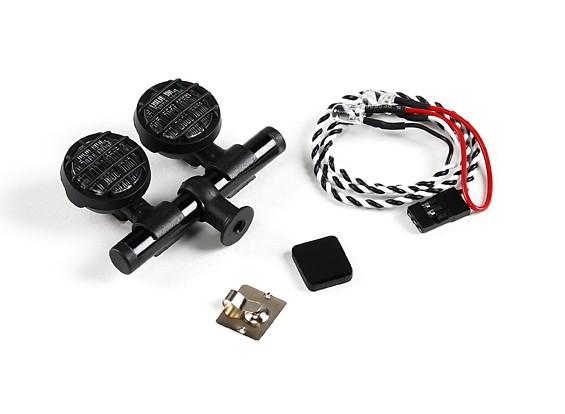 1/10 Crawler / Light Truck Set com 2 LEDs (Black)