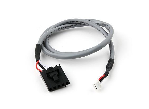 400 milímetros 5 Pin Molex / JR a 3 Pin Branco blindado Conector de chumbo