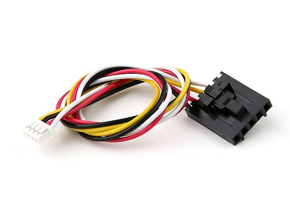 200 milímetros 5 Pin Molex / JR a 4 Chumbo Pin Branco Connector