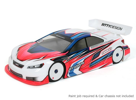 Bittydesign Nardò 190 milímetros 1/10 Touring Car Body Racing (ROAR aprovado)