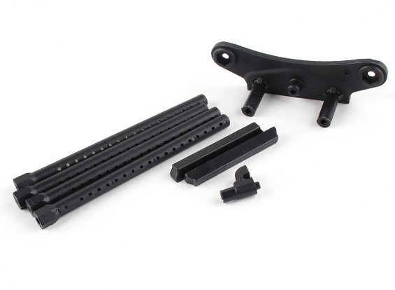 BSR Corrida M.RAGE 4WD M-Chassis - Pára-choques frontal Holder e Mount Corpo
