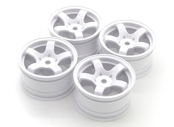 Varrer Mini 5 Spoke tipo de roda A - brancas (4pcs)