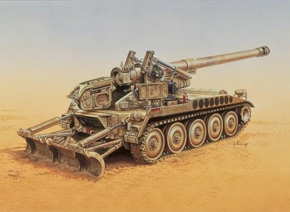 Kit Italeri 1/35 M-110 A2 Veículo Modelo