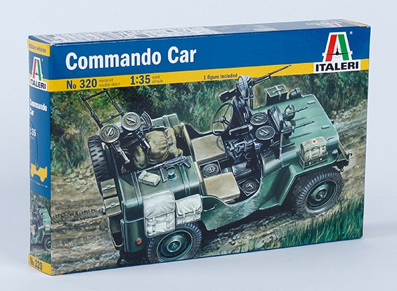 Kit Italeri 1/35 Escala Comando carro modelo de plástico