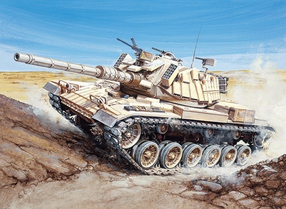 Kit Italeri 1/35 Escala M60 Blazer Plastic Modelo