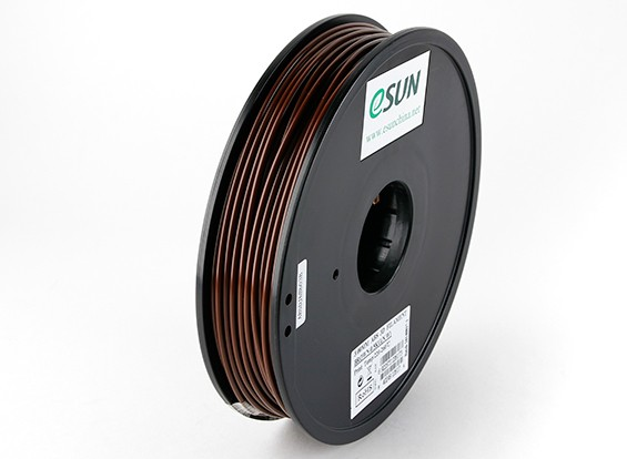 Filament Printer ESUN 3D Brown 3 milímetros ABS 0.5KG Spool