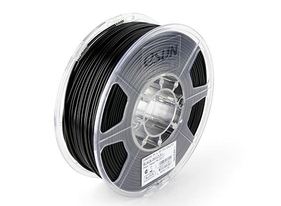 ESUN 3D Filament Printer Preto 3 milímetros PLA 1KG rolo